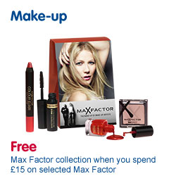 Free Max Factor Collection when you spend �15 on Selected Max Factor