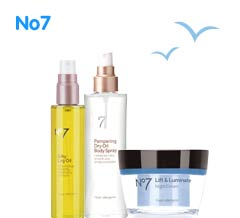 Number Seven. Three for two mix and match on selected skin care, body care, number seven, fake tan, indulgent bathing, vitamins and mens products ? cheapest free