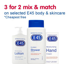 E45 skin and body care