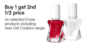 Buy one get the second half price on essie gel couture