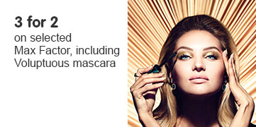 3 for 2 on selected Max Factor