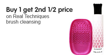 buy one get second half price on selected real technique cleansing