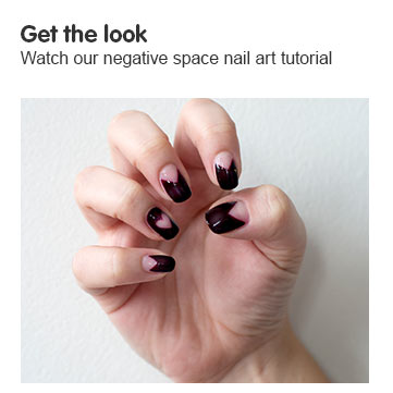 Get the look. Negative space nail art tutorial