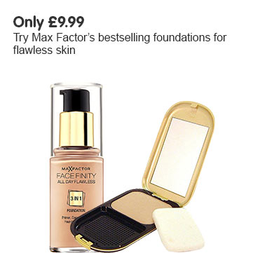 Only one ninety nine. Try Max Factors best selling foundations for flawless skin