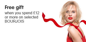 Free gift when you spend twelve pounds on selected Bourjois