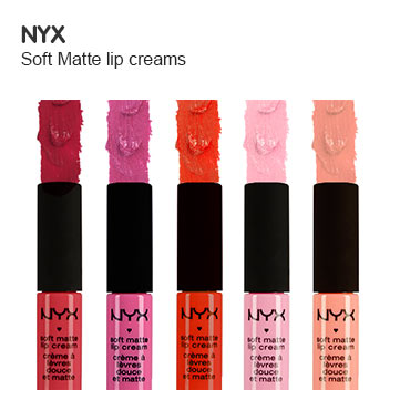 NYX soft matt lip creams