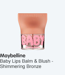 Maybelline babylips lip and cheek balm Shimmering Bronze
