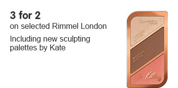 Three for two on selected Rimmel London