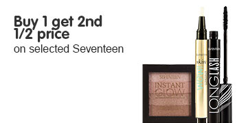 Buy one get a second half price on selected Seventeen