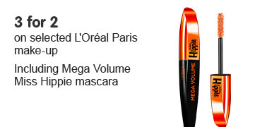 Three for two on selected LOreal. Including new miss hippie mascara