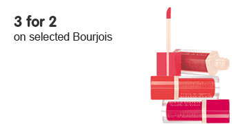 Three for two on selected Bourjois