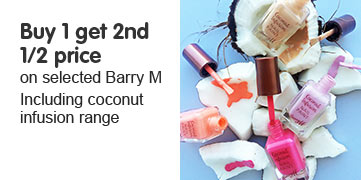 Buy one get a second half price on selected Barry M