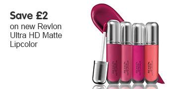save two pounds on revlon ultra matte lipsticks