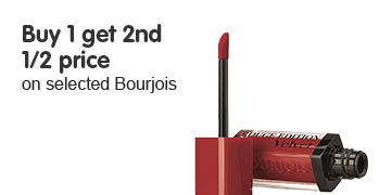 Buy one get second half price on selected bourjois