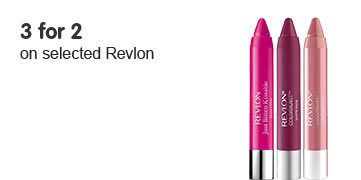 Three for two on selected Revlon