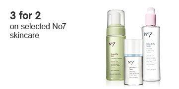 Three for two on selected skincare