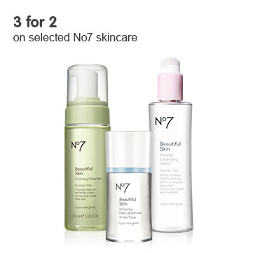3 for 2 on selected No7 skincare