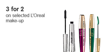 Three for two on selected LOreal cosmetics