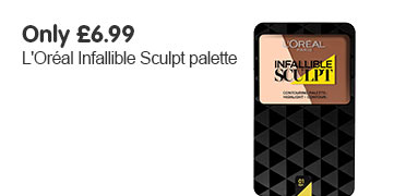 Only six pounds ninety nine LOreal infallible sculpt palettes
