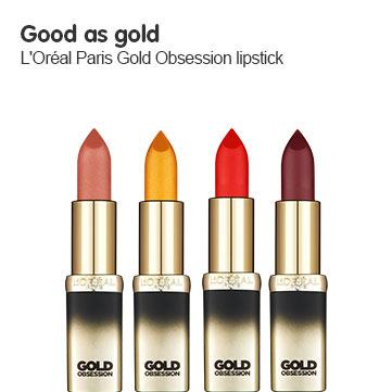 Loreal color riche gold obsession lipstick