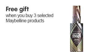 Free gift when you buy three or more selected Maybelline
