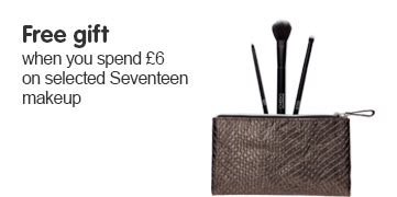 Free gift when you spend six pounds or more on selected Seventeen