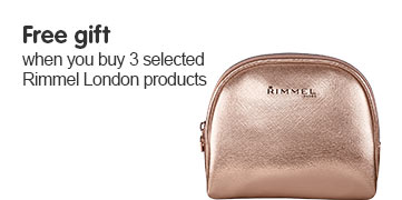 Free gift when you buy three or more selected Rimmel