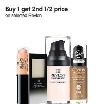 Buy one get a second half price on selected Revlon