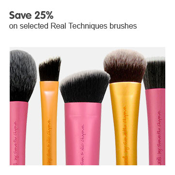 Save 25% on selected Real Techniques