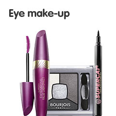 Eye Make up - Mascara, Eye shadow and Eye liner