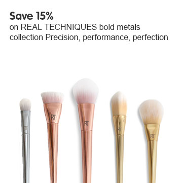 Save 15% Real Techniques bold metals brushes