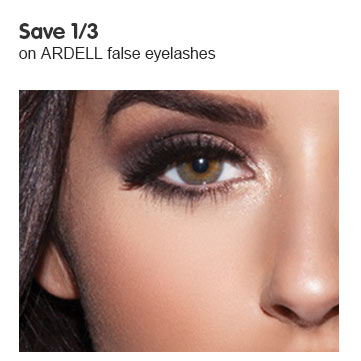 Save a third on ardel lashes
