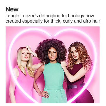 new tangleteezer thick and curly hair brush