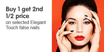 buy one get second half price on selected elegant touch