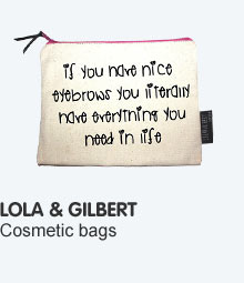 new lola and gilbert cosmetic bags