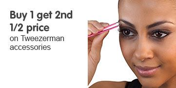 buy one get second half price on selected tweezerman accessories