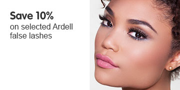save ten percent on selected ardell false lashes