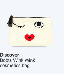 discover the boots wink wink cosmetics bag