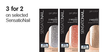Three for two on selected Sensationail
