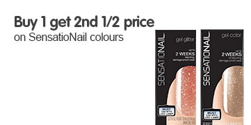 Buy one get a second half price on selected Sensationail
