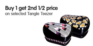 Buy one get the second half price on Tangle Teezer