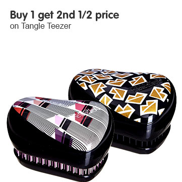buy one get second half price on selected tangle teezer