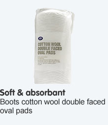 Boots Cotton Wool Double Faced Oval Pads