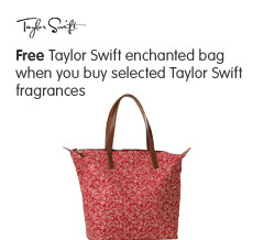 Free Taylor Swift enchanted bag when you buy selected Taylor Swift fragrances