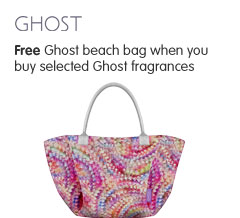 Free Ghost Beach Bag when you buy selected Ghost fragrances