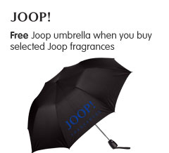 Free Joop umbrella when you buy selected Joop fragrances