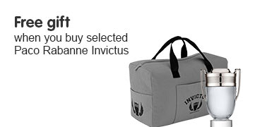Free gift when you buy selected Paco Rabanne Invictus