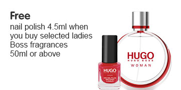Free nail polish wyb selected ladies Boss fragrances