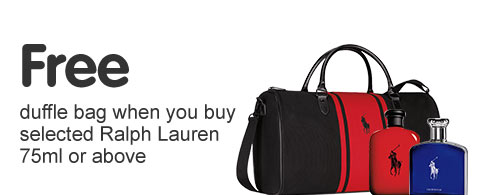 Free duffle bag wyb selected Ralph Lauren 75ml or above