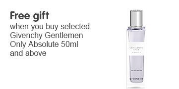 Free gift when you buy selected Givenchy Gentlemen